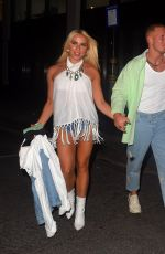 GABBY ALLEN and Brandon Myers Night Out in London 08/21/2020