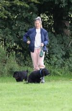GEMMA ATKINSON Out with Her Dog at a Park in Manchester 08/03/2020