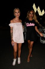 HOLLY HAGAN, ZAHIDA ALLEN and LEONIE and CHE MCSORLEY at Dukes92 Bar in Manchester 08/12/2020
