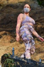 ISKRA LAWRENCE in Tights Out Hiking in Los Angeles 08/30/2020