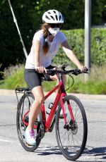 ISLA FISHER Out on Bike Ride in Los Angeles 07/31/2020