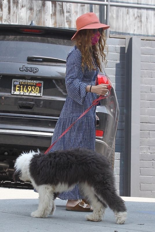 ISLA FISHER Out with Her Dog in West Hollywood 08/21/2020