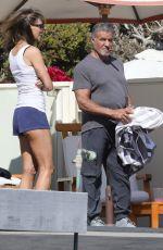JENNIFER FLANVIN and Sylvester Stallone at a Beach in Malibu 08/09/2020