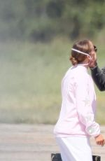 JENNIFER LOPEZ and Alex Rodriguez at a Private Airport in New York 08/30/2020