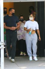 JENNIFER LOPEZ and Alex Rodriguez Leaves Their Apartment in New York 08/10/2020