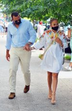 JENNIFER LOPEZ and Alex Rodriguez Out for Dinner at Cipriani in New York 08/05/2020