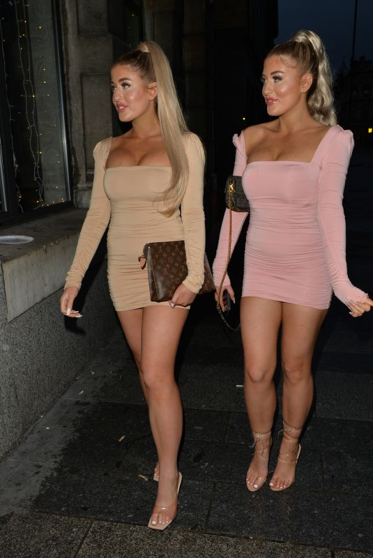 JESS and EVE GALE Out for Dinner in Liverpool  07/29/2020