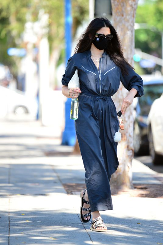 JESSICA GOMES in a Jumpsuit Out for Lunch in West Hollywood 08/21/2020