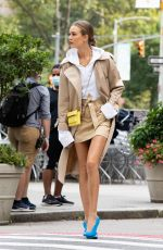 JOSEPHINE SKRIVER on the Set of Maybelline Commercial in New York 08/15/2020