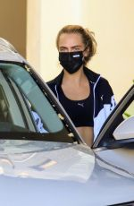KAIA GERBER and CARA DELEVINGNE Workout at a Gym in Los Angeles 08/11/2020