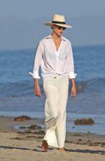 KARLIE KLOSS Out on the Beach in Santa Monica 08/02/2020