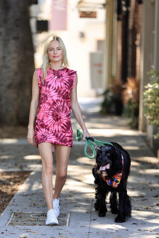 KATE BOSWORTH Out with Her Dog in Los Angeles 08/25/2020
