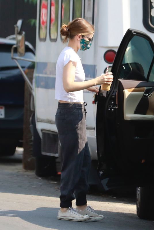 KATE MARA Out for Coffee in Glendale 08/21/2020