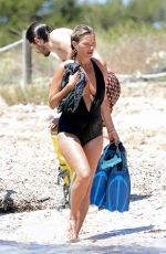 KATE MOSS in Swimsuit on the Beach in Spain 08/09/2020