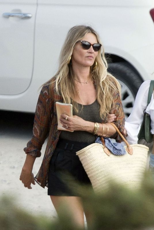 KATE MOSS Out for Lunch in Ibiza 08/02/2020