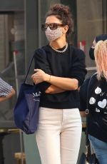 KATIE HOLMES Out and About in New York 08/09/2020