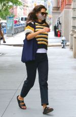 KATIE HOLMES Out in New York 07/31/2020