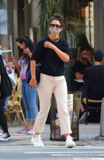 KATIE HOLMES Out Shopping in New York 08/09/2020
