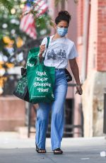 KATIE HOLMES Out Shopping in New York 08/17/2020
