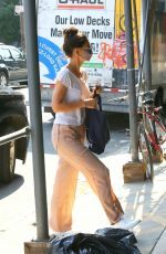 KATIE HOLMES Wearing a Mask Out in Brooklyn 08/06/2020