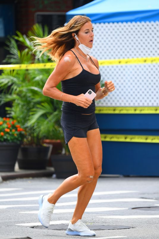 KELLY BENSIMON Out Jogging in New York 07/30/2020