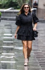 KELLY BROOK Arrives at Heart Radio in London 08/19/2020