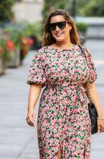 KELLY BROOK in a Floral Summer Dress Leaves Global Radio in London 08/11/2020