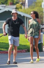 KELLY GALE and Joel Kinnaman at a Dog Park in Venice Beach 08/16/2020