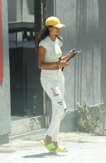KELLY GALE at a Seafood Market in Santa Monica 08/02/2020