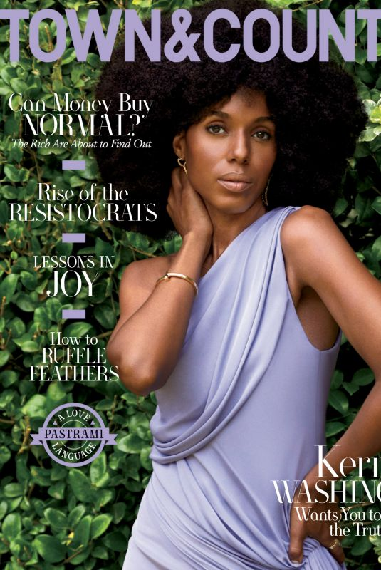KERRY WASHINGTON in Town & Country Magazine, September 2020