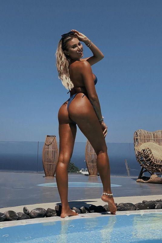 KHLOE TERAE in Bikini at a Pool - Instagram Photos 08/12/2020