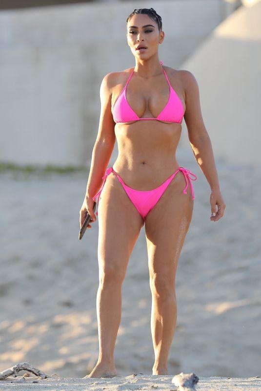 KIM KARDASHIAN in Bikini at KKW Beauty Photoshoot in Cabo San Lucas 08/23/2020