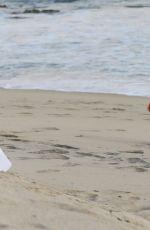 KIM KARDASHIAN in Bikini on the Set of KUWTK at a Beach in Malibu 08/26/2020