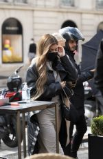 KYLIE JENNER Out for Lunch in Paris 08/27/2020