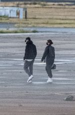 KYLIE JENNER, Zack Bia and Fai Khadra at Le Bourget Airport 08/28/2020