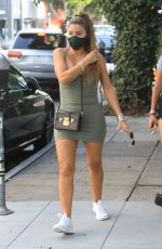 LARSA PIPPEN in Tight Dress at The Ivy in Beverly Hills 08/19/2020