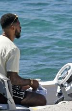 LEIGH-ANNE PINNOCK and Andre Gray at a Boat in Mykonos 08/05/2020