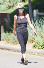 LISA RINNA Out Hiking in Studio City 08/08/2020