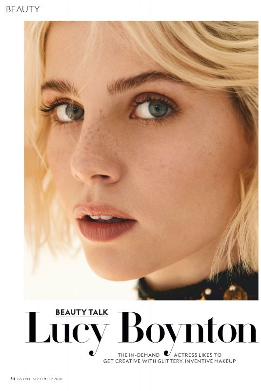 LUCY BOYNTON in Instyle Magazine, September 2020