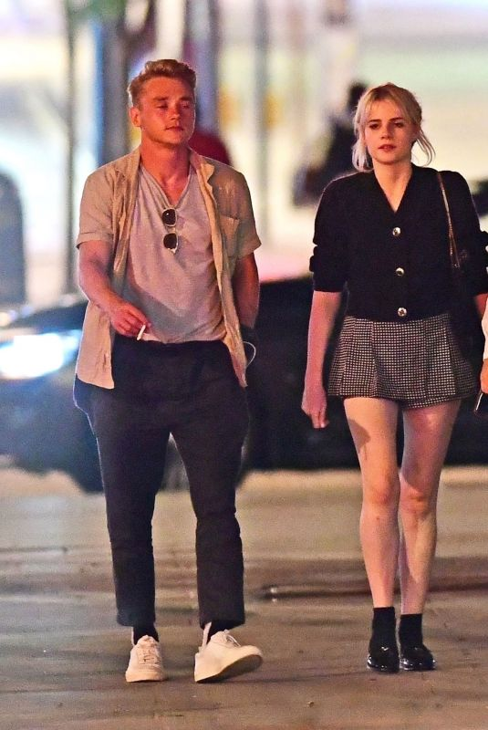 LUCY BOYNTON, Rami Malek and Ben Hardy Night Out in London 08/19/2020