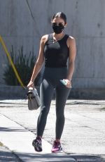 LUCY HALE Out for Coffee in Studio City 08/12/2020