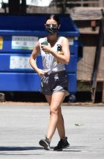 LUCY HALE Out Hiking in Studio City 08/01/2020