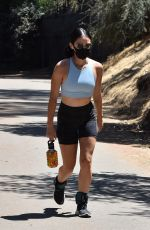LUCY HALE Out Walking at Fryman Canyon in Studio City 08/14/2020