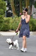 LUCY HALE Out with Elvis in Studio City 08/13/2020
