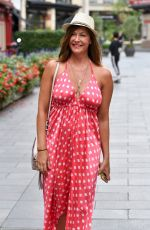 LUCY HOROBIN Arrives at Heart Dance Radio in London 08/18/2020