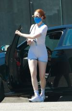 MADELAINE PETSCH in Tights Out for Coffee in Studio City 08/02/2020