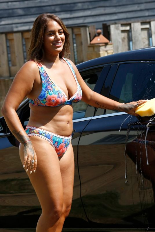 MALIN ANDERSON in Bikini Washing Her Car Out in London 08/11/2020