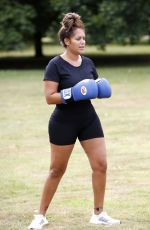 MALIN ANDERSON Workout with a Personal Trainer in London 08/07/2020