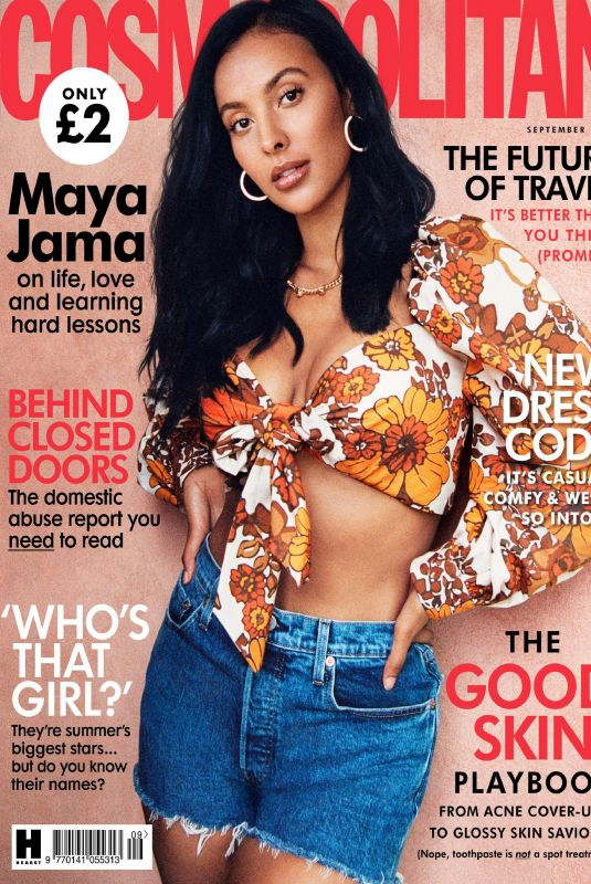 MAYA JAMA in Cosmopolitan Magazine UK September 2020