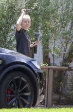 MILEY CYRUS Out and About in Calabasas 08/13/2020